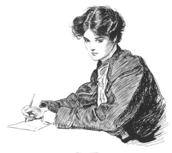Woman Writing Letters by Charles Dana Gibson