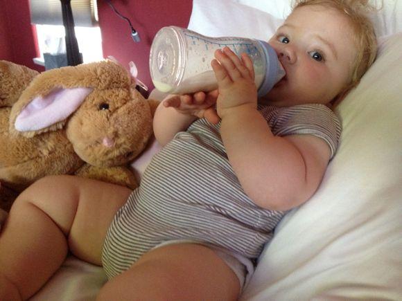366/2012: Day 142 Full Belly Full Diaper