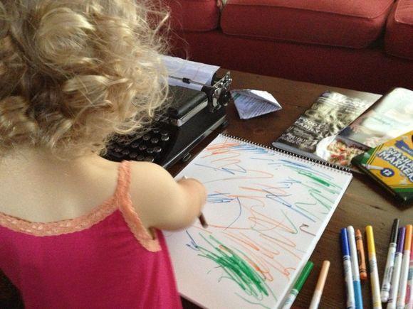 Harper's First Art Piece