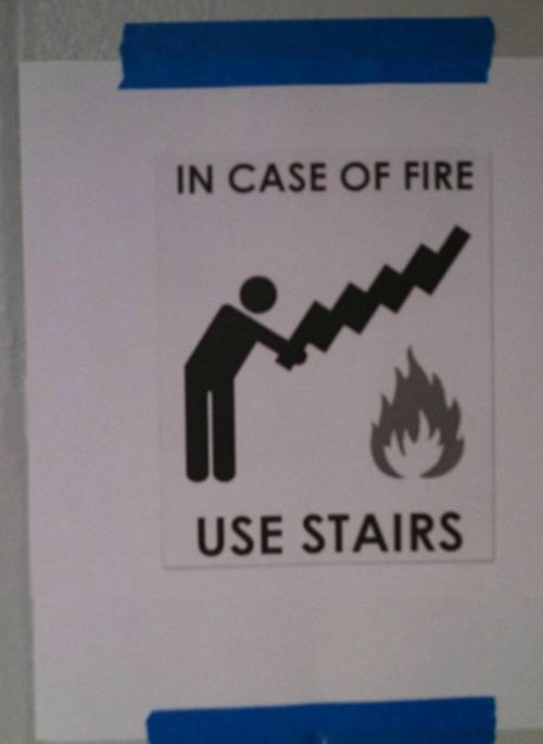 Funny-fire-sign-use-stairs