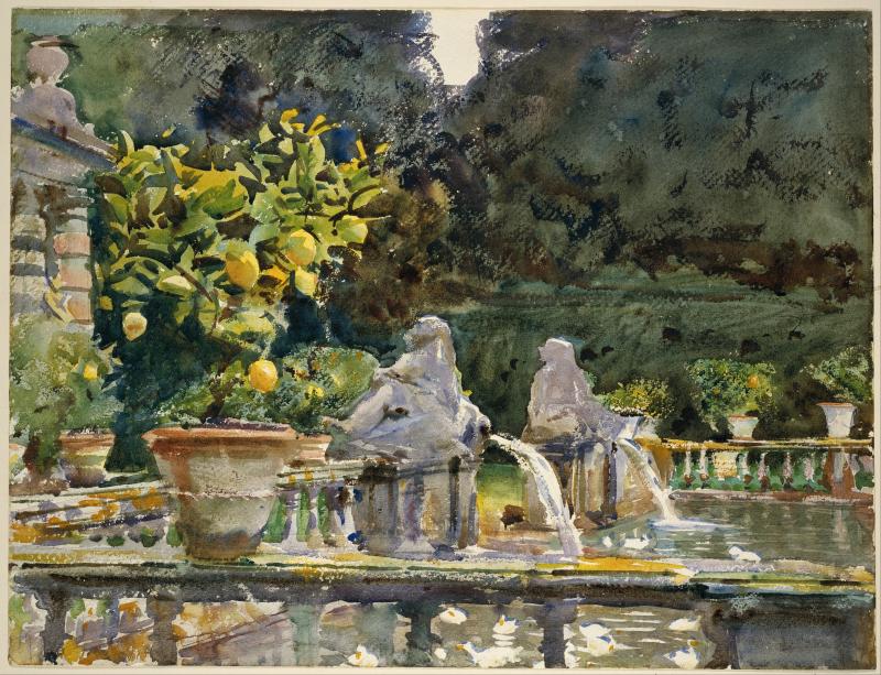 John_Singer_Sargent_-_Villa_di_Marlia _Lucca-_A_Fountain_-_Google_Art_Project