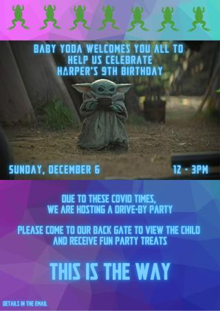 Copy of Harper 9th Birthday Invite