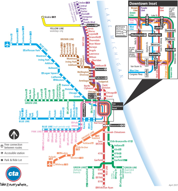 Chicago Transit Authority Subway Map.Mass Transit Julia S Mexico City